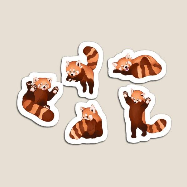 Red Panda Pattern Magnet