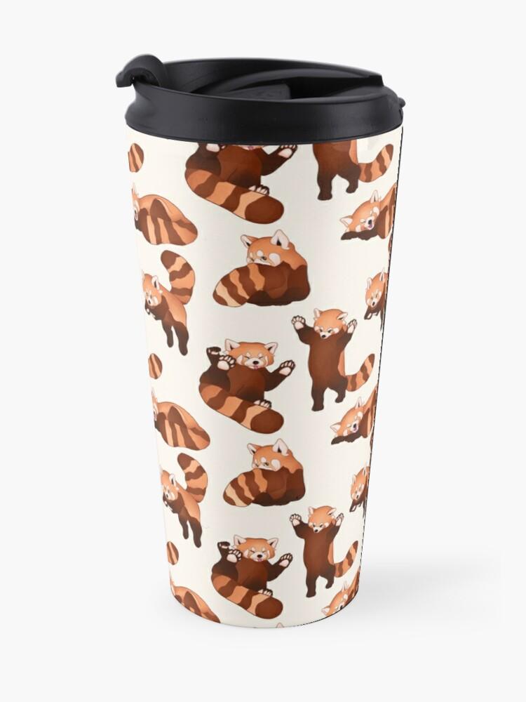 Alternate view of Red Panda Pattern Travel Mug