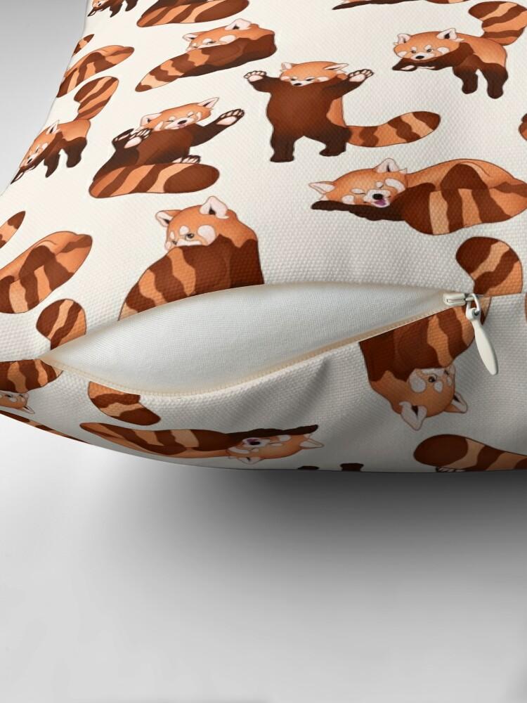 Alternate view of Red Panda Pattern Throw Pillow