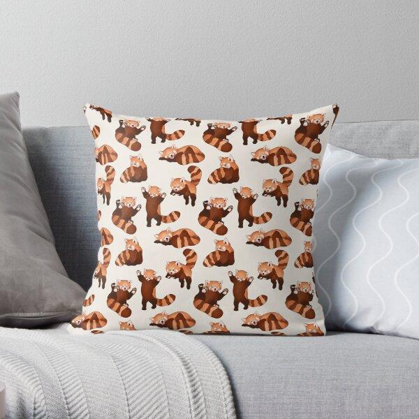 Red Panda Pattern Throw Pillow