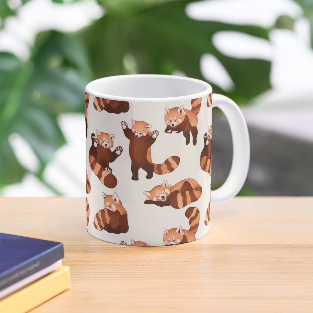 Red Panda Pattern Mug