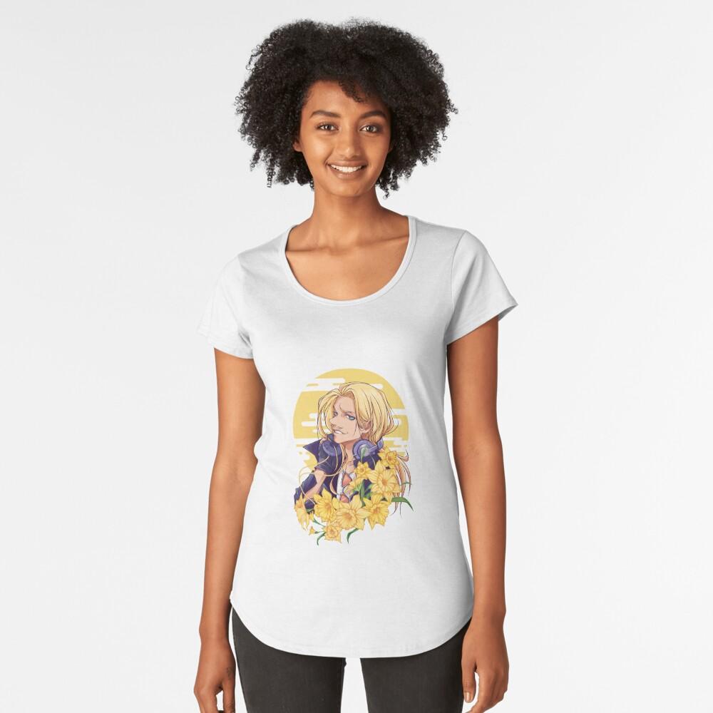 Narzissen Premium Rundhals-Shirt