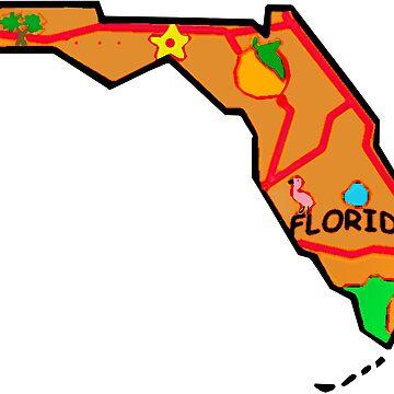 Florida Touristische Karte von Havocgirl
