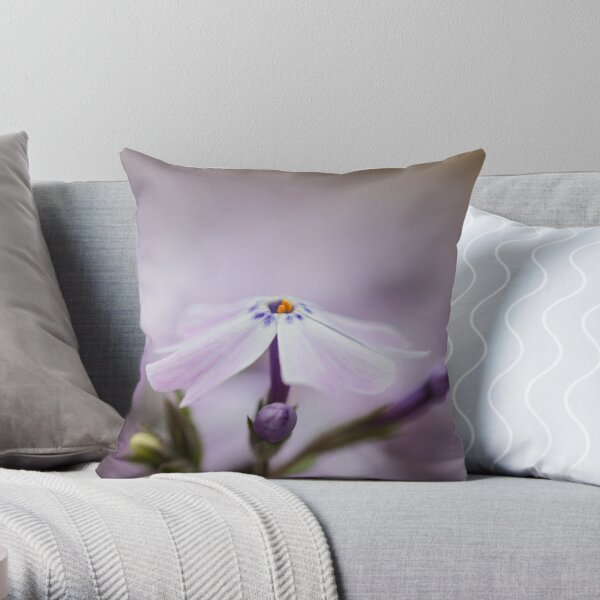 Lavender Spring Flowers Throw Pillow
