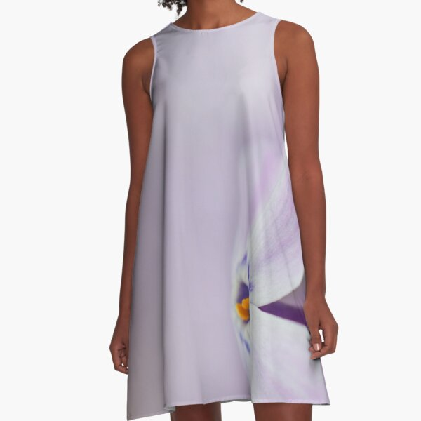 Lavender Spring Flowers A-Line Dress