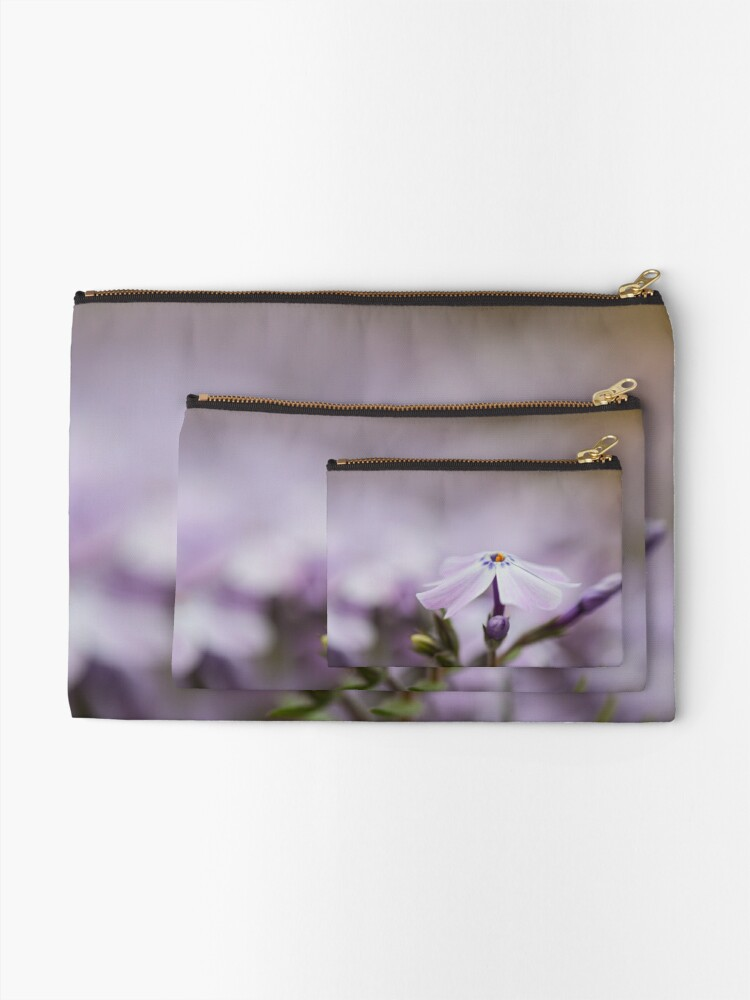 Alternate view of Lavender Spring Flowers Zipper Pouch