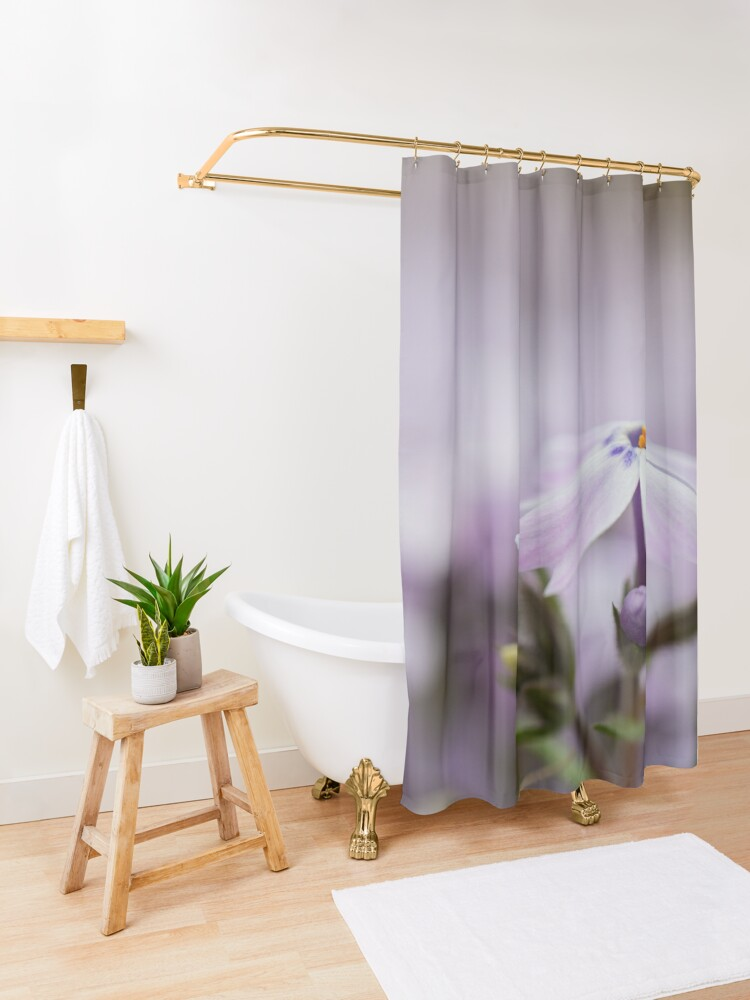 Alternate view of Lavender Spring Flowers Shower Curtain