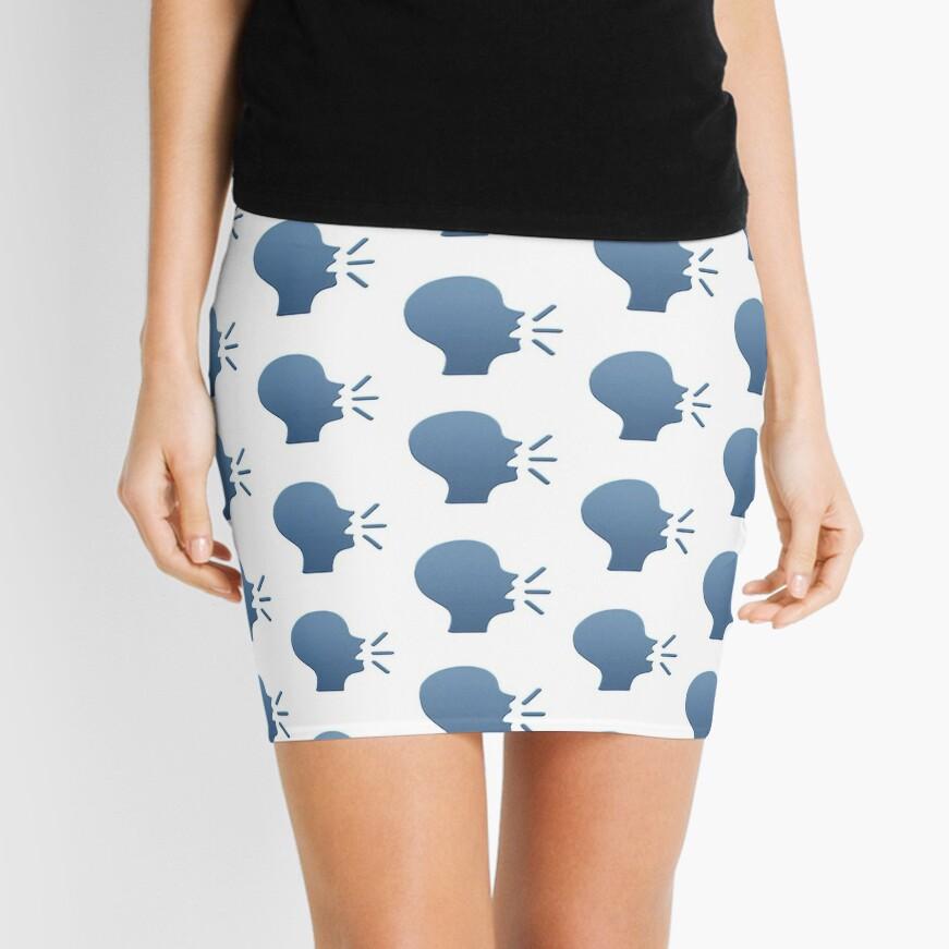 Speaking Head In Silhouette Emoji Minirock