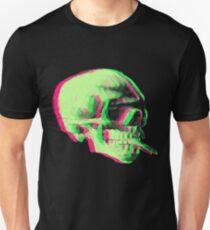 Van Gogh Skull with burning cigarette remixed Unisex T-Shirt