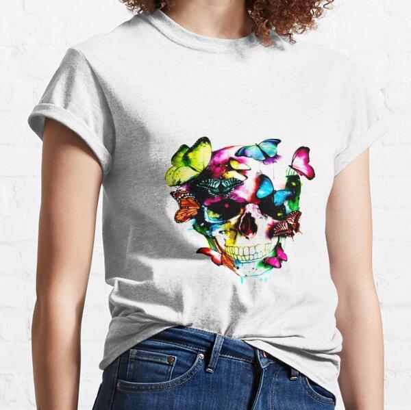 carabela con mariposas colores  Camiseta clásica