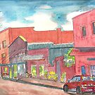 A New Mexico Street Scene Watercolor Southwest by Naquaiya