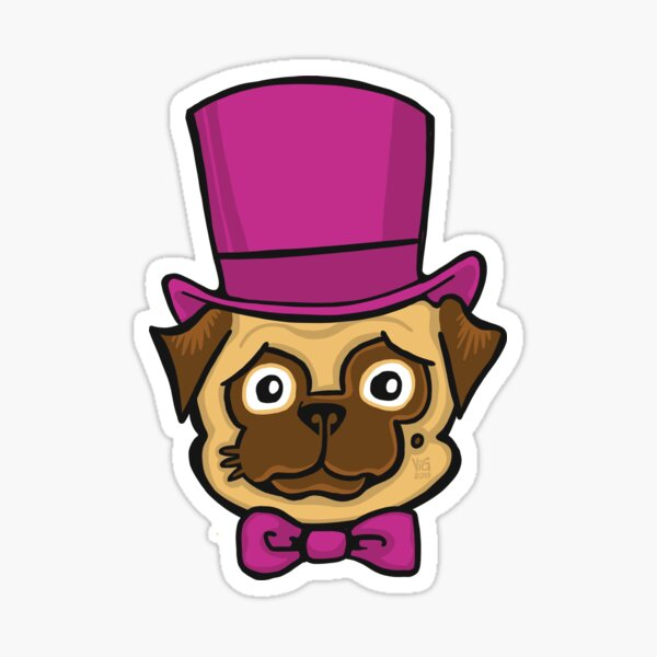 Fancy Pug Sticker