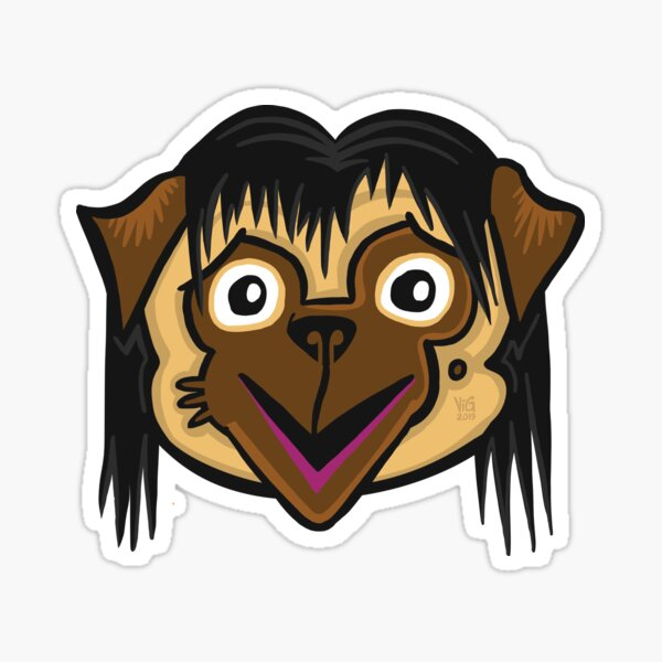 Momo Pug Sticker