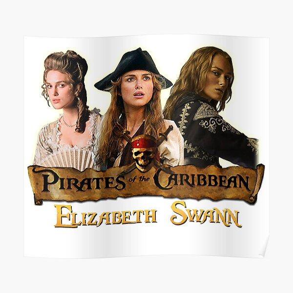 Elizabeth Swann Hommage aux pirates des Caraïbes Poster