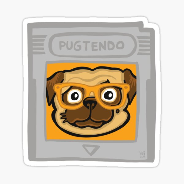 Pugtendo Gamepug Sticker