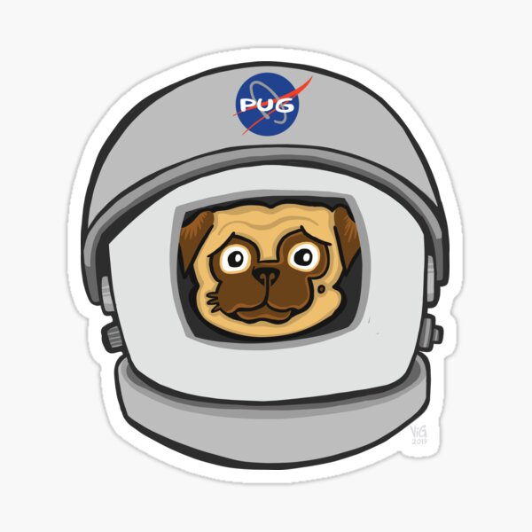 Space Pug Sticker
