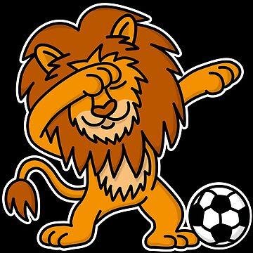 Dab Dabbing Lion English Football England soccer by LaundryFactory