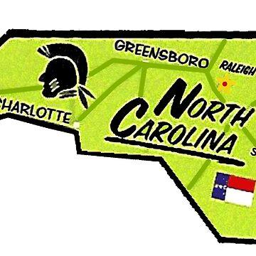 Karte von North Carolina von Havocgirl