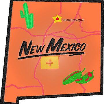 New Mexico Touristenkarte von Havocgirl