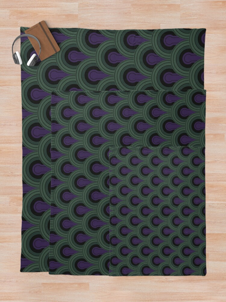 Alternate view of Room 237 Carpet (The Shining)  Throw Blanket