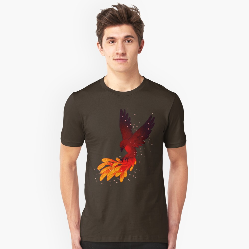 """""""You Will Rise Above the Ashes"""" Phoenix Slim Fit T-Shirt"""