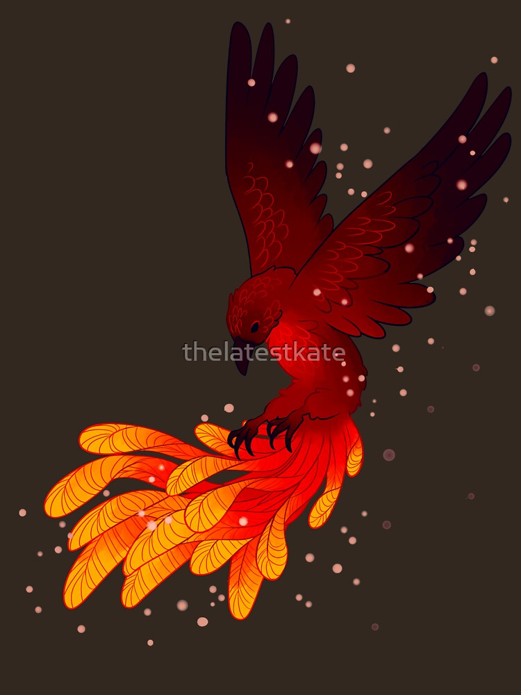 """You Will Rise Above the Ashes"" Phoenix by thelatestkate"