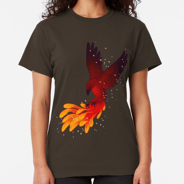"""You Will Rise Above the Ashes"" Phoenix Classic T-Shirt"