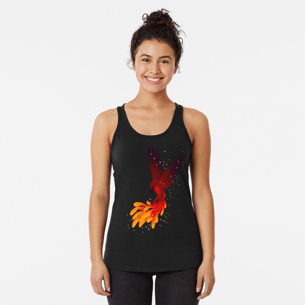 """You Will Rise Above the Ashes"" Phoenix Racerback Tank Top"