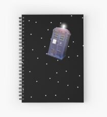 Police Box in Outerspace. Spiral Notebook