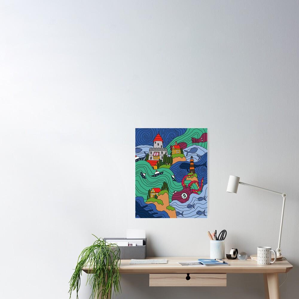 Ocean Mosaic Poster