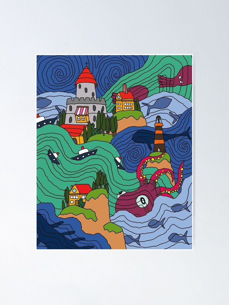 Alternate view of Ocean Mosaic Poster