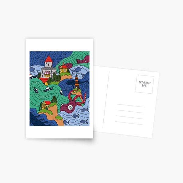 Mosaïque océan Carte postale