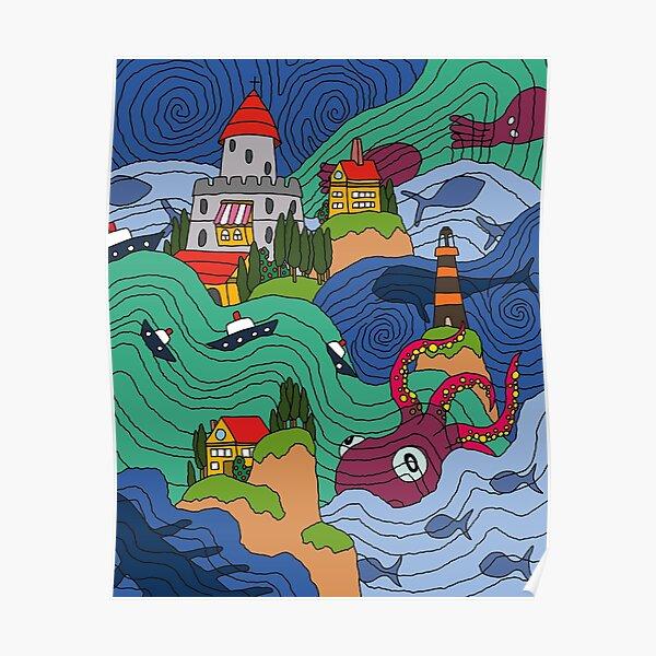 Mosaïque océan Poster