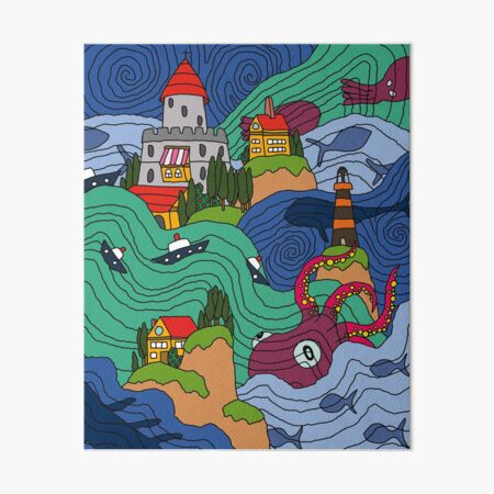 Ocean Mosaic Art Board Print