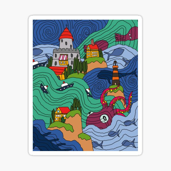 Mosaïque océan Sticker