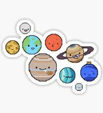 pixel planets Sticker