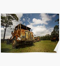 Rusted truck Poster