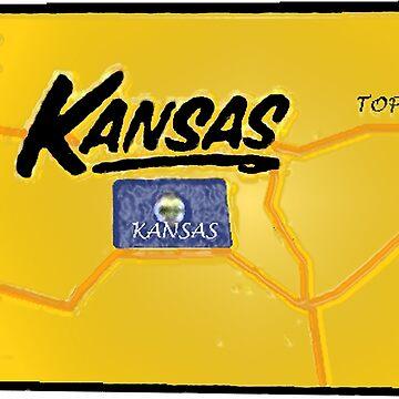 Kansas Touristische Karte von Havocgirl