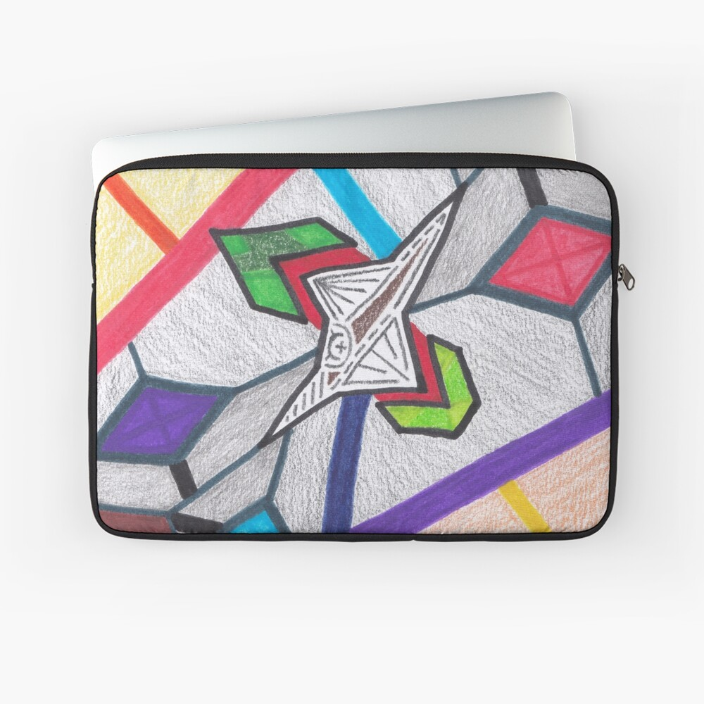 Merch #8 -- Glass Stained Abstract Pane. Laptop Sleeve