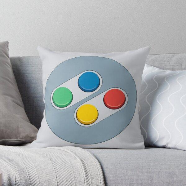 Controller Buttons Throw Pillow