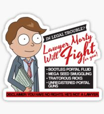 Funny Rick And Morty - Lawyer Morty Sticker
