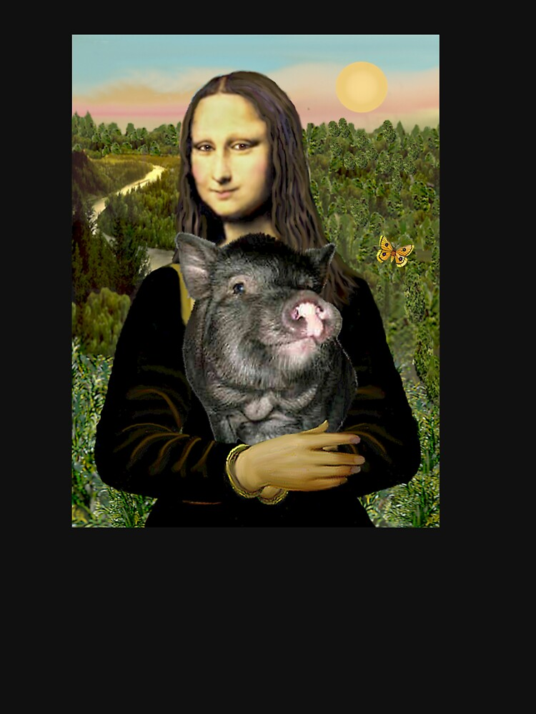 Mona Lisa and her Pot Belly Pig by JeanBFitzgerald
