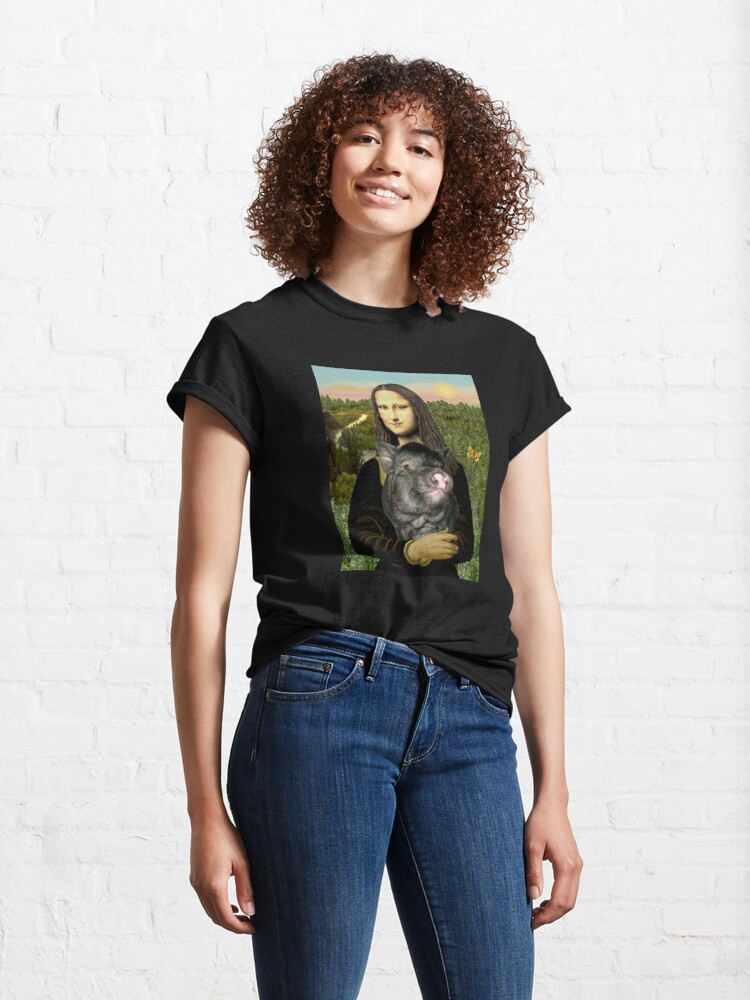 Alternate view of Mona Lisa and her Pot Belly Pig Classic T-Shirt