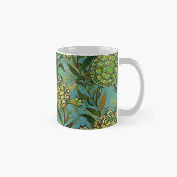 Slider Turtle Pattern Numero Uno by Robert Phelps Classic Mug