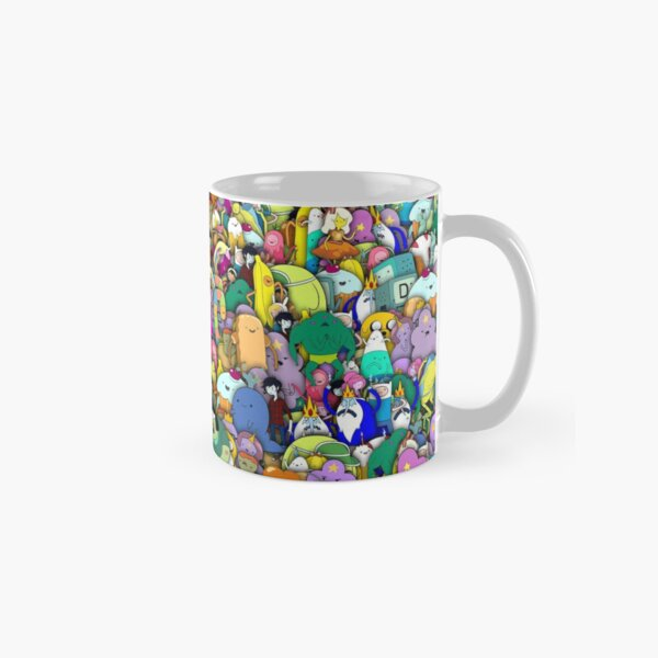Adventure Time characters stickerbombing Classic Mug
