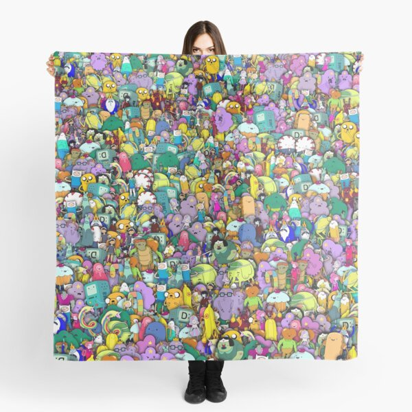 Personnages de Adventure Time stickerbombing Foulard