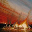 Study in flame and ash by Ken Tregoning