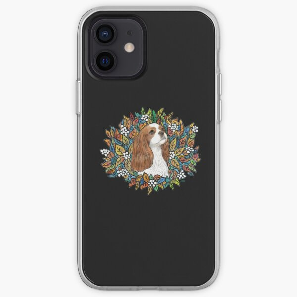 Blenheim Cavalier King Charles in Garden Wreath iPhone Soft Case