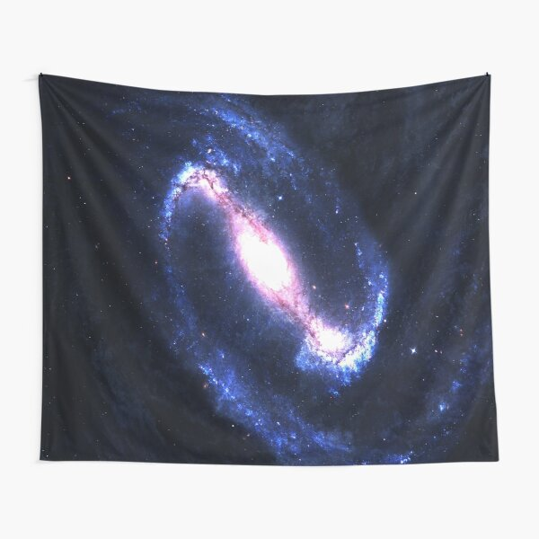 Barred Spiral Galaxy Space Tapestry