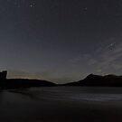 Ardvreck Castle and Quinag at Night by derekbeattie